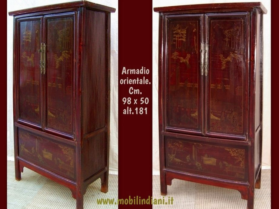 armadio-cinese-rosso-scuro