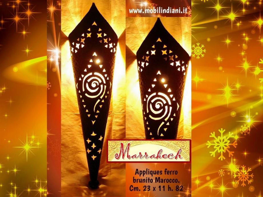 Lampade lanterne marocchine: applique da parete in ferro