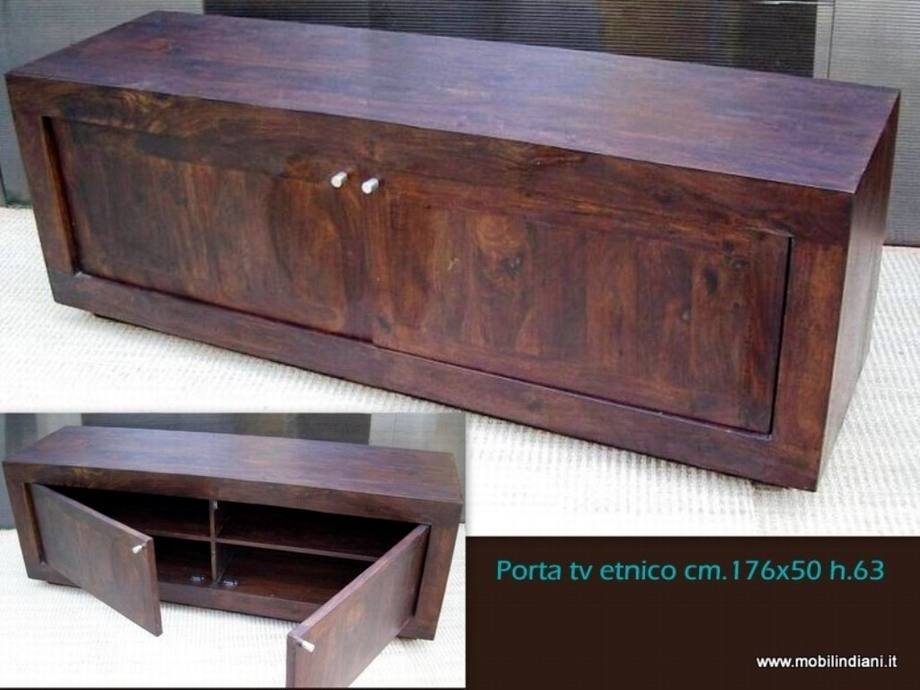 Porta TV e Porta CD: Portatv etnico legno scuro